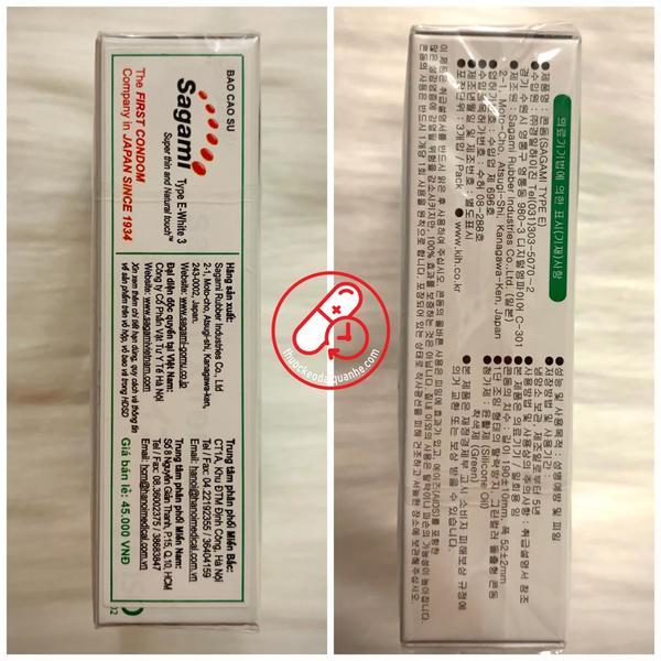 Bao cao su Sagami Type E (hộp 3 cái)