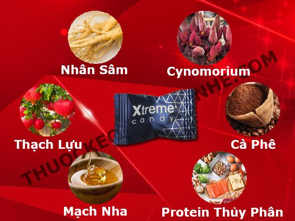 Thành phần kẹo sâm Xtreme (30 viên) - Tăng cường sinh lý nam