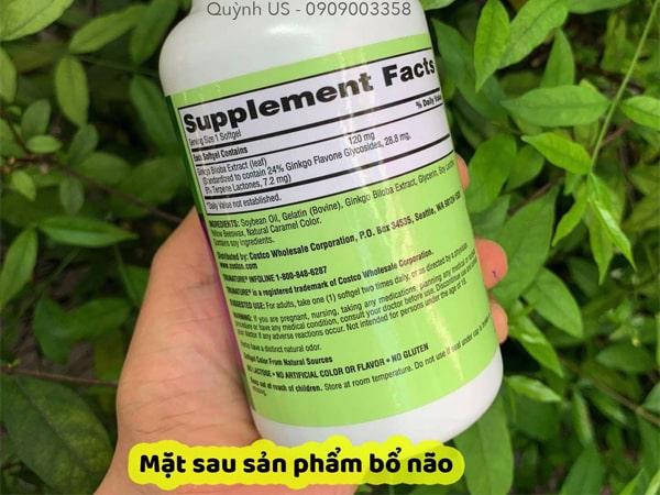 Viên uống bổ não Ginkgo Biloba 120mg Mỹ, 340vjavascript:void(0)