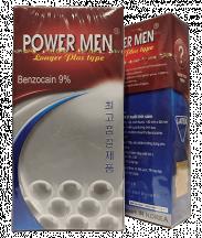 Bao cao su POWER MEN Tăng khoái cảm và trị xuất tinh sớm (Hộp 12 cái)