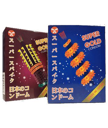 Bao cao su SUPER GOLD Siêu Gân Gai Bi (Hộp 2 cái)
