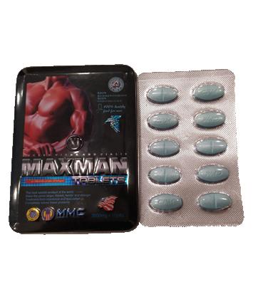 Thuốc cường dương MAXMAN TABLETS 3800mg x 10 Viên