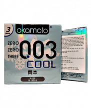Bao cao su Okamoto 003 COOL Bạc Hà hộp 3 cái