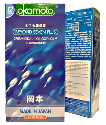 Bao cao su Okamoto BEYOND SEVEN PLUS (Hộp 12 cái)