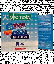 Bao cao su Okamoto Dot De Cool mát lạnh (Hộp 3 cái)